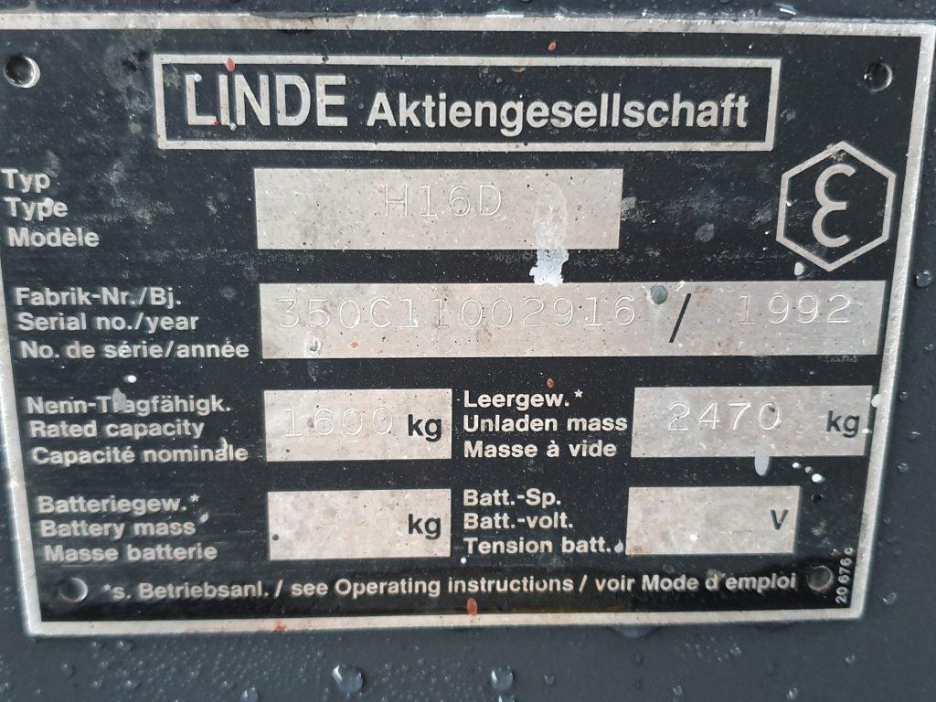 LINDE H16D -189