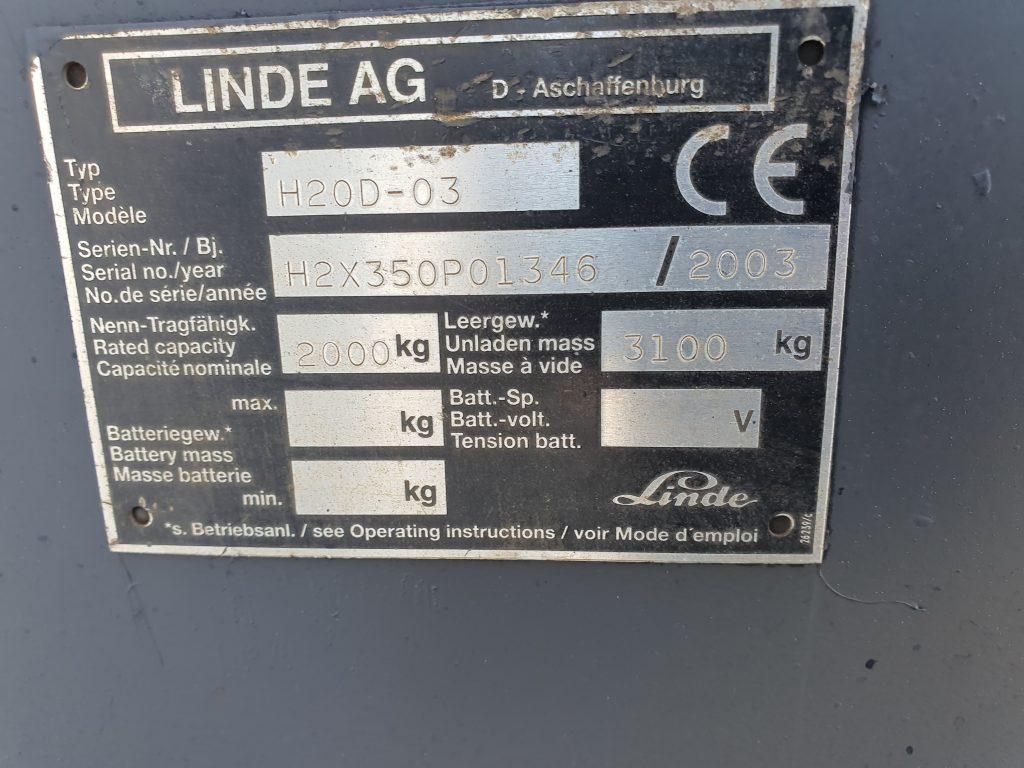 LINDE H20D – 215