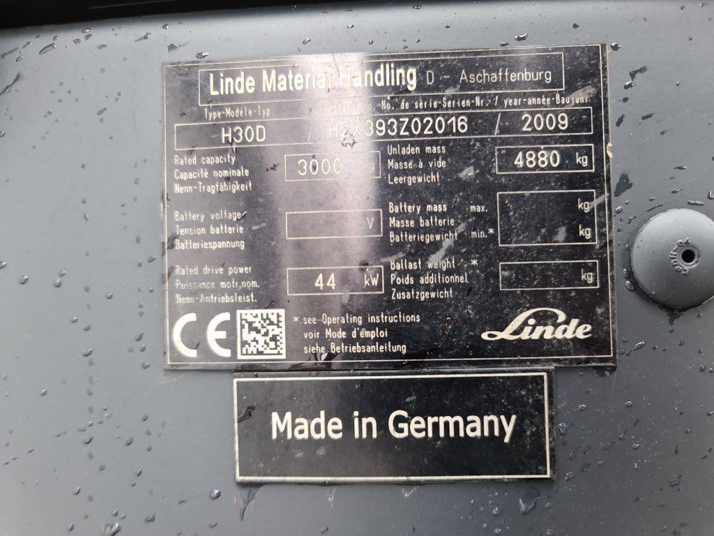 LINDE H30D – 260