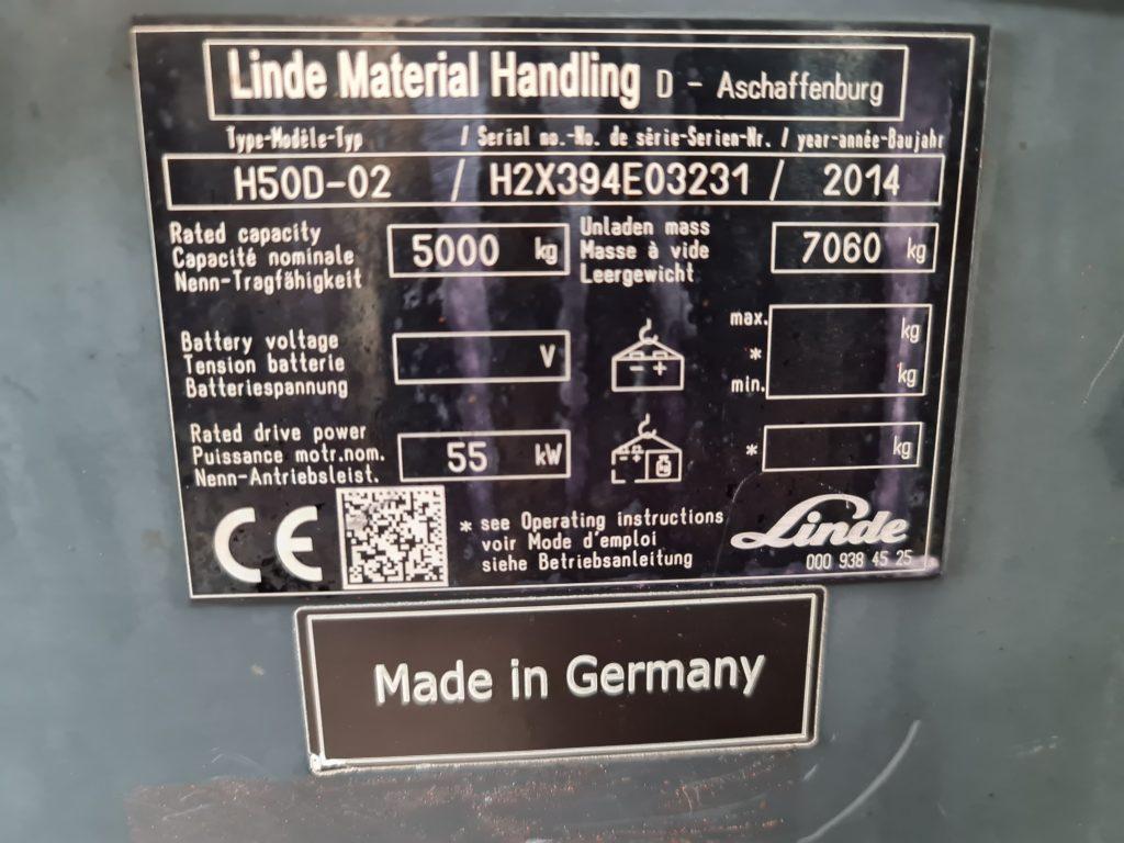 LINDE H50D TRIPLEX – 276