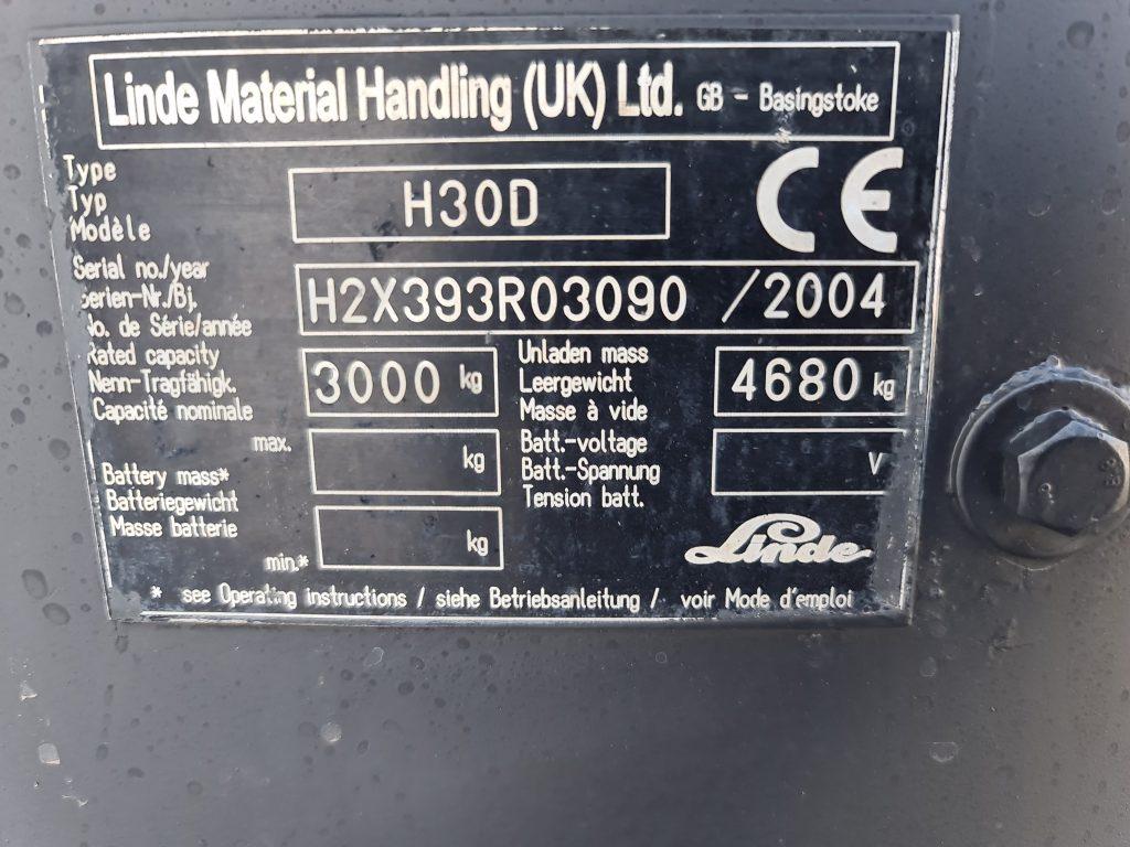 LINDE H30D – 294