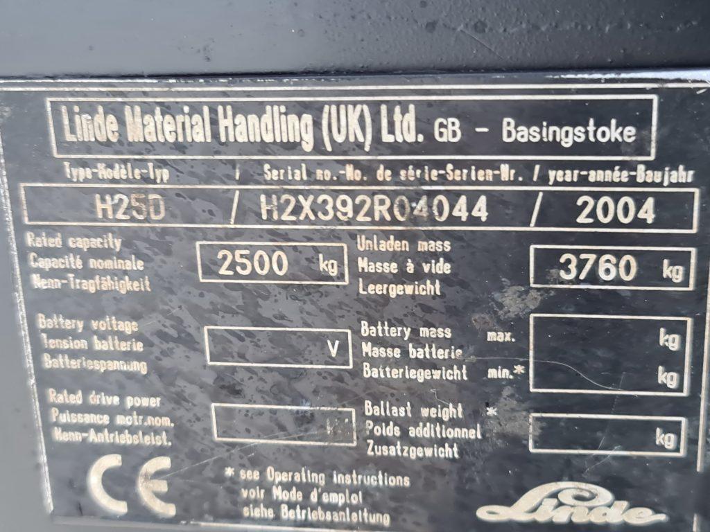 LINDE H25D -297