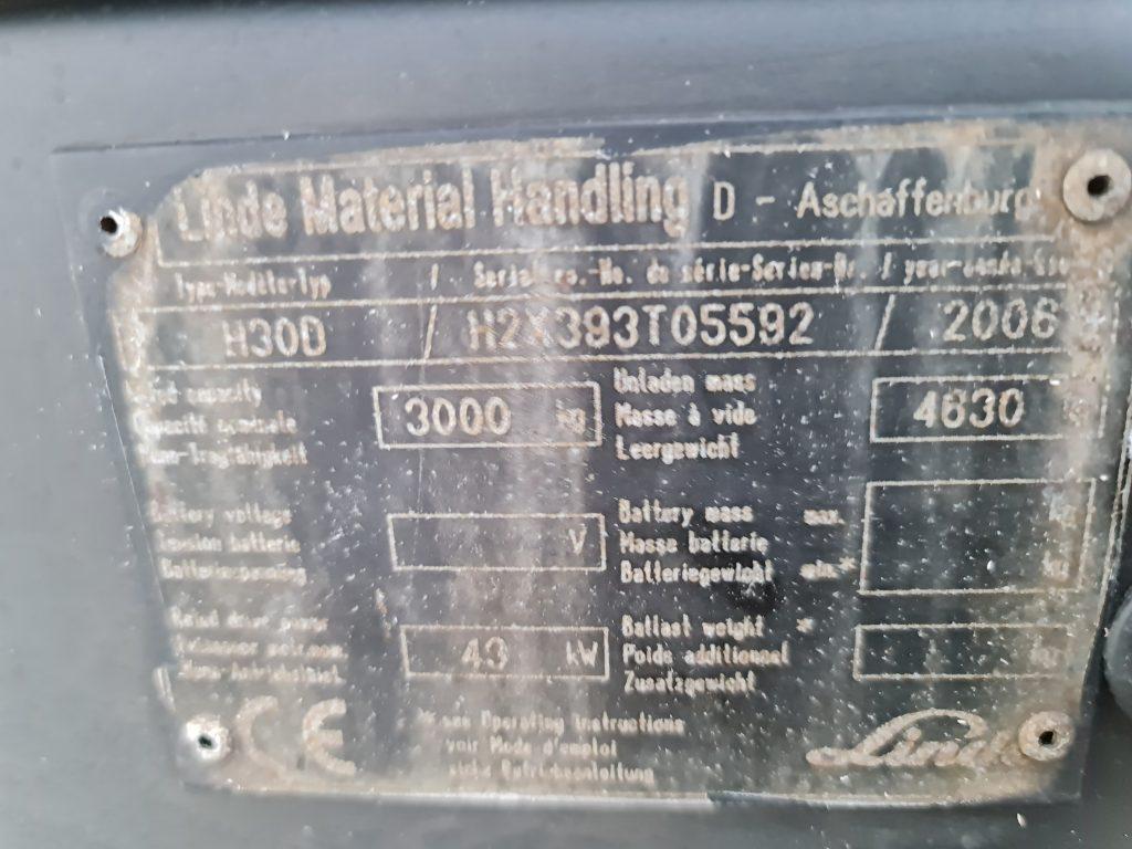 LINDE H30D – 320