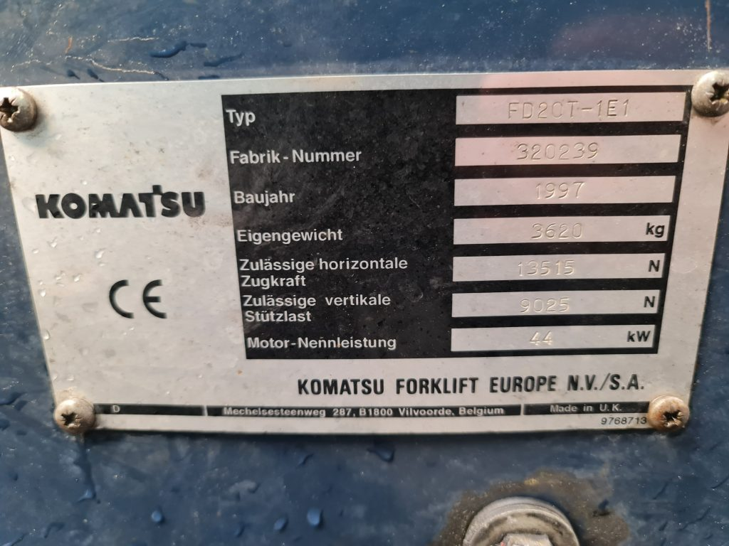 KOMATSU FD20T – 335