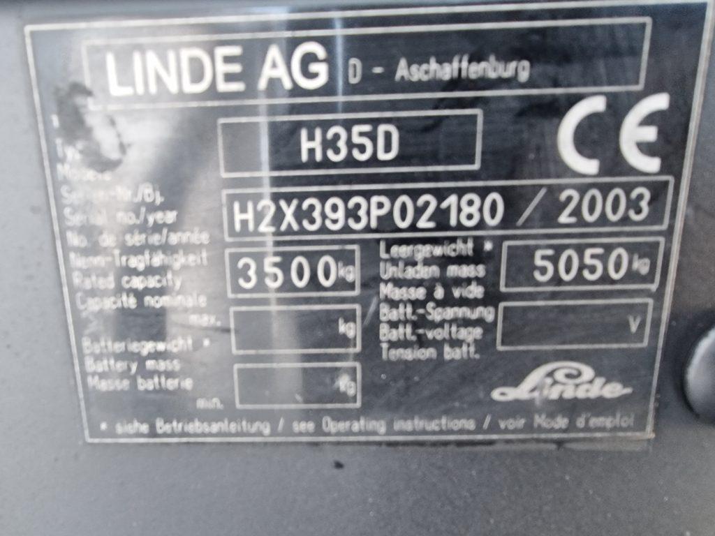 LINDE H35D – 349