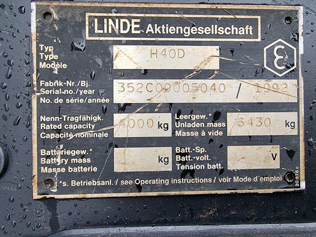 LINDE H40D – 364