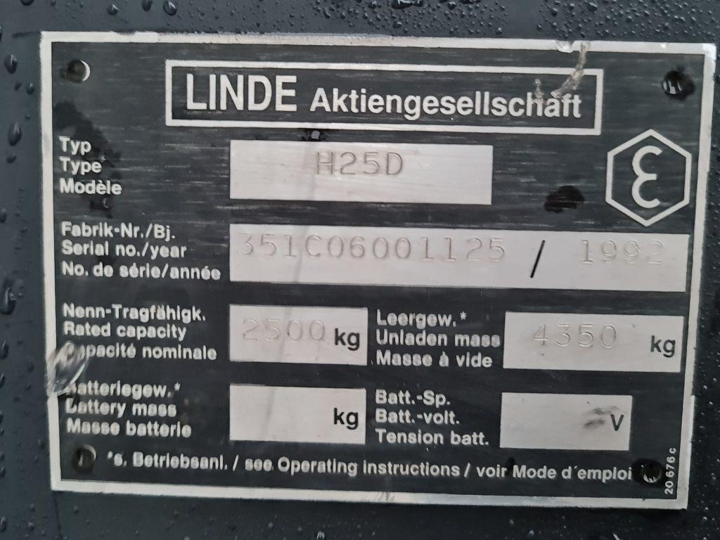 LINDE H25D – 372