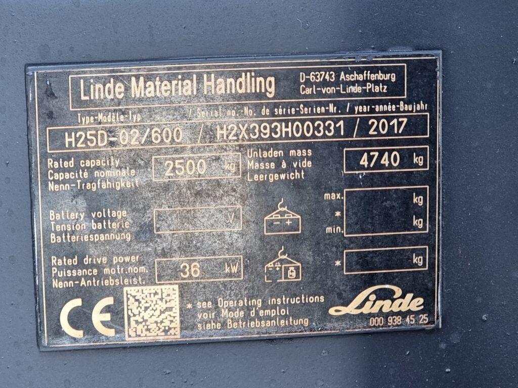 LINDE H25D TRIPLEX – 393