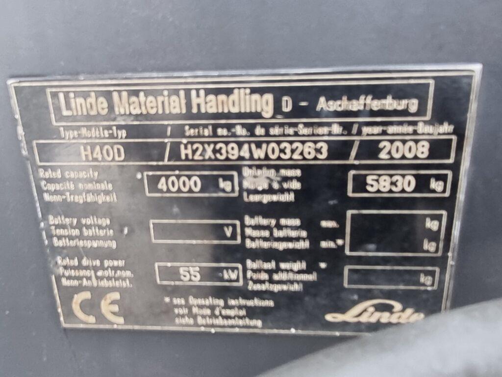 LINDE H40D – 395